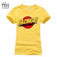 Wholesale Bazinga Shirt - Wholesale-HanHent Bazinga Funny Women's T-Shirts Cotton Ladies School Style The Big Bang Theory T Shirt Casual Cropped Tee Shirt Woman