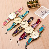 Fashion spots sports watches - sell pass hot style New Geneva hand woven rope bracelet watches spot fashion sport watch