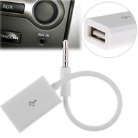 Wholesale Usb Sound Card Cable - Car Kit 3.5MM AUX Male To USB Female Converter Cable Car Speaker Audio Converter Line Data Transmission Line Deliver HIFI Sound