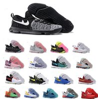 Wholesale White Colour Men Shoes - 18 Colour Air Zoom KD 9 Mens Basketball Shoes KD9 Oreo Grey Wolf Kevin Durant 9s Men's Training Sports Sneakers Warriors Home US Size 7-12