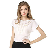 Wholesale Cute Jasmine - 2017 Jasmine Layered Ruffle Blouses Women Halter Sexy Off Shoulder Summer shirt Tops 2017 Black And White Clothing Cute Blouse