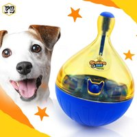 Wholesale Cat Food Free Shipping - Hot Pet supplies Funny Shaking Feeders Dog Cat Leakage of food Tumbler Toys Automatic Feeders wholesale free shipping