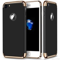 Wholesale Iphone Hard Back Pink - For iPhone 7 Plus gold hard pc case Removable 3 in 1 Back Case cover for iPhone 6 Samsung galaxy S7 edge S8