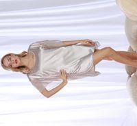 Wholesale Nightgown Nightdress Girl Lace - Nightdress satin sleepwear silk girls nightgowns sleepshirts sexy lingerie for women short sleeve satin nightgown sexy one size SJYT112
