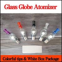 Wholesale Glass Dome Vapor Dry Herb - Wax Glass Globe Atomizer E Cigarette dry herb dome glass vaporizer tanks replacement Coils VAPOR GLOBE Bulb Vape Pen Atomizer