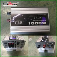 Wholesale Tbe Inverter - Wholesale- TBE 1000W DC 12V to AC 220V Portable Automotive Power Inverter Pure Sine Wave 1000 watt DC to AC Power Adapter TBE-1000W
