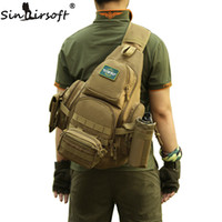 Wholesale tactical molle sling - SINAIRSOFT 14iches Laptop Molle Backpack Men Nylon Sports Bag Shoulder Sling Waterproof Men's Travel Tactical Backpack