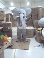 Wholesale Drop Mascot Costume - 100%as the picture, Grey elephant Mascot Costume for adults christmas Halloween Outfit Fancy Dress Suit Free Shipping Drop Shipping