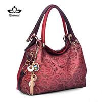 фирменная цветочная сумочка оптом оптовых-Оптово-Мода женская сумка выдалбливают ombre сумочка с цветочным принтом shoudler сумки женские искусственная кожа сумка