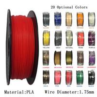 ingrosso filamento 3d 1kg-Filamento 1KG / Roll / 2.2LBS / bobina PLA 1.75mm Filamento stampante 3D Filamenti di stampante 3D materiale flessibile e ambientale Materiali di consumo