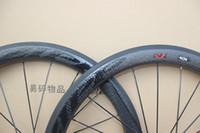 Wholesale Bicycle Carbon Clincher Rims - BOB carbon Road Bike wheels Dimple Surface 404 700C rim Clincher carbon Wheelset 50mm Depth 25mm Width bicycle wheel with novatec hubs