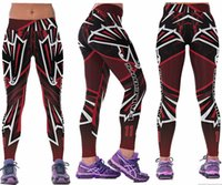 Wholesale Ladies Leggins - New Women Fitness Baseball Hockey Leggings American Football Team Sports 3D Print Leggins Lady Girls Slim Running Training Yoga Sexy Pants