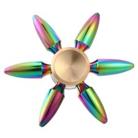 Wholesale Bullet Action - New EDC Tri-Spinner Bullet Fidget Toys Pattern Hand Spinner Metal Fidget Spinner And ADHD Adult Decompression Toys Action