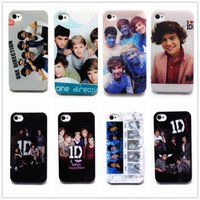 Wholesale Hard Case Iphone One Direction - Many Style 1D One Direction Stylish Pattern Hard Back Cover Case Skin For iphone 4 4S case Free Shipping