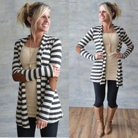 Wholesale China Fashion Coat - Wholesale- Cheap-Clothes-China Jackets Women Fashion 100%Cotton Cardigan Coat Long Sleeve Striped Casual Jacket Outwear Jaqueta Feminina