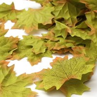 ingrosso foglie artificiali per matrimoni-Confezione da circa 50 foglie di acero autunnale artificiale Foglie di seta autunnale per matrimoni, eventi e decorazioni