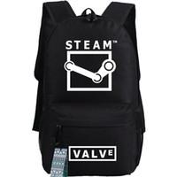 Wholesale valve steams for sale - Group buy Steam backpack Game platform school bag Valve design daypack Laptop schoolbag Outdoor rucksack Sport day pack