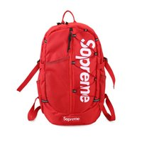 Wholesale Authentic Sport Bag - 2017 Supremee Backpack Authentic Quality Best Christopher 29x18x44cm Red Men Women School Bag Sport Outdoor Packs Bagshot sale