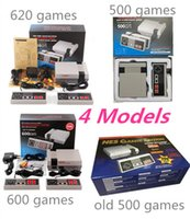 Wholesale Tv Video Player Box - 2017 New Mini TV Handheld Game Consoles video game player For Nes Games Built-in 500 600 620 Classic Games PAL&NTSC with retail box