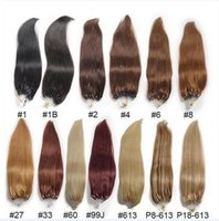 Wholesale Extension Human Hair Micro - 2017 First hand quality Micro loop human hair extensions straight cabelo human 1g s human hair micro rings extension 100g
