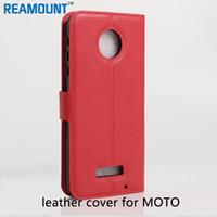 ingrosso copertura motorola e2-Commercio all'ingrosso per MOTO Z Z Force Case cover per custodie in pelle flip per MOTO E3 E2 cover per telefono posteriore cover posteriore