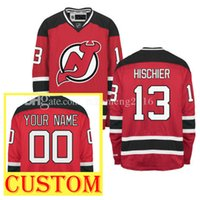 No.1 Draft Piack 13 Nico Hischier Hockey Jersey CUSTOM New Jersey Devils  2017 New Premier Embroidery Men s Gold Home Jerseys ... 28e825d3b