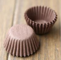 Wholesale Mini Baking - Mini muffin cupcake liners lollipop wrapper 3cm base Coffee bulk 500pcs lot High temperature baking greaseproof paper