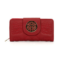 Wholesale Ladies Embroidered - Fashion Wallets Woman Credit Card Package Clutch Bag Plaid Embroidered Multi-bit Ladies Long and Short Purse England Style VKP1416-7