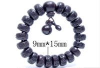 Wholesale tibet wood carvings - flat bead Hand carved real peach wood beads bracelet Buddha bracelets