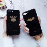 Wholesale Marvel Cases - DHL free shipping American marvel cartoon for the new design for iphone 6G 6P 7G 7PLUS Mirror TPU+pc case
