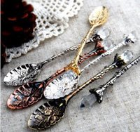 Wholesale Coffee Party Favors - Europe Type Wedding Favors Coffee Spoon Flower Patterns Popular Luxurious Vintage Baroque Elegant Wedding Supplies Events