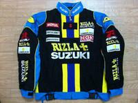 куртка наскар л оптовых-Оптовая Осень-F1 Road Racing Хлопковые Куртки GSN NASCAR Мотоциклетная Гоночная Куртка для suzuki gsv rizi.A + suzuki ngk Автомобильная Гоночная Команда куртки