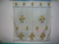 Wholesale Company produces the bath shade the green printing computer embroidery hand a pint of production process Material have satin jacquard sa