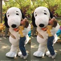 Wholesale Snoopy Mascot Costumes Halloween - 2017 EPE Adult Size Snoopy Dog Mascot Costume Halloween Chirastmas Party Fancy Dress Free Shipping