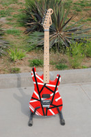 Wholesale Travel Guitar Free Shipping - .Wholesale High Quality Red Eddie Van Halen 5150 Maple Fingerboard Electric Guitar Free Shipping