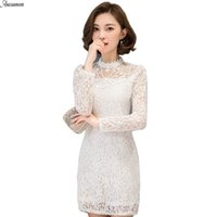 Wholesale Plus Size Chinese Dresses Clothing - Anasunmoon Brand Women Dress 2017 Spring Bodycon Dresses Plus Size Chinese Womens Clothing Sexy White Evening Party Lace Dresses q0425