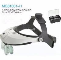 Wholesale Helmet Magnifying Glass - Freeshipping 1.0X 1.5X 2.0X 2.5X 3.5X Illuminated Helmet Magnifying Glass Loupe LED Light Adjustable Dental Magnifier