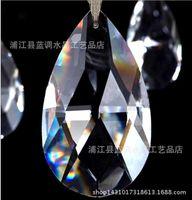 tipos de cortinas al por mayor-Lámpara de cristal de cristal Prismas de techo Lámpara de lágrima Colgantes Abalorios Accesorios de cortina Boda Decorar Tipo de tamaño
