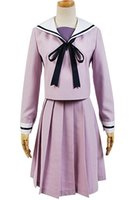 Wholesale sailor woman costume for sale - Kukucos Anime Noragami Iki Hiyori Purple Sailor Uniform Dress Cosplay Costume Gift For Halloween Party Everydaylife