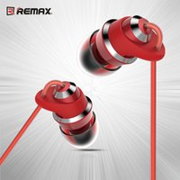 Wholesale Unique Bass - Newest REMAX RM-585 Metal HiFi Earphone Unique CNC Music Headset Bass Stereo Copper Ring Gold Plated 3.5mm Wired HD Mic With Retail Box