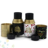 Wholesale Dual Hole Atomizer - Mini Temple RDA Rebuildable Atomizer Airflow Control 3mm Post Holes 24mm Dual Post Atty With Extra AFC Ring fit 510 Mods DHL Free