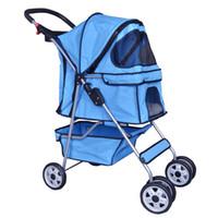 Wholesale Trolley Stroller - Pet Stroller Cat Dog Cage Stroller Travel Folding