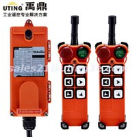 Wholesale industrial steps - Wholesale- Industrial Radio Wireless Remote Control 6 Buttons channels one step F21-E1 for Hoist Crane 2 Transmitter and 1 Receiver