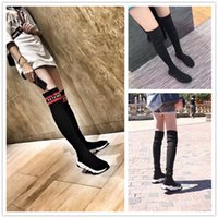 Speed ​​Stretch-Knit HighTopTrainers 2017 New Fashion Men Women Black White Socks Elasticity Casual Designer Boot Shoes Size 36-44
