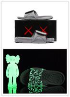 zapatillas de baloncesto al por mayor-Venta al por mayor nuevas zapatillas 4s x Hydro 4 Cool Grey sandalias IV Diapositivas zapatillas de baloncesto zapatillas Glow in dark size 7-12