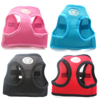 Wholesale paw dog collar - Free shipping Dog Control Harness Soft Paw Rubber Mesh Walk Collar pet puppy harness 6 colors 3 sizes available