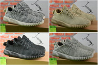 Wholesale Winter Milan - 2017 Wholesale Kanye Milan West Y Boost 350 Moonrock Oxford Tan Pirate Black Turtle dove Men's Trainers Sports Running Shoe With Box