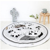 Wholesale Kids Soft Play Mats - Baby Blanket Kids Play Mat Cobertor Girl Boys Game Mat Round Carpet Rug with Best Quality and Price 2109079