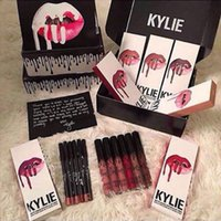 Wholesale Choose Lipstick - In Stock Kylie Jenner Liquid Lipstick Lipgloss Matte Lip liner Lip Gloss Lip Kit Cosmetics Lips Makeup Messages to Choose 38 color