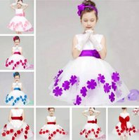 Wholesale Nylon Taffeta Free Shipping - Hot sell baby kids clothing summer girls children dresses more color Wedding dress 3-8 years skirt good quanlity free shipping